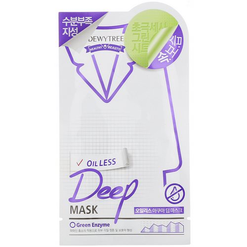 Dewytree, Deep Mask, Oil Less, 1 Mask, 27 g فوائد