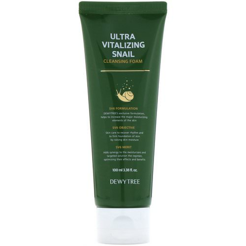 Dewytree, Ultra Vitalizing Snail Cleansing Foam, 3.38 fl oz (100 ml) فوائد