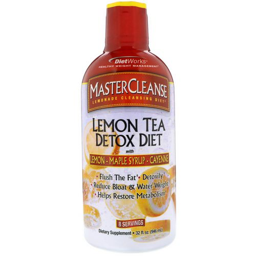 DietWorks, MasterCleanse, Lemon Tea Detox Diet, 32 fl oz (946 ml) فوائد