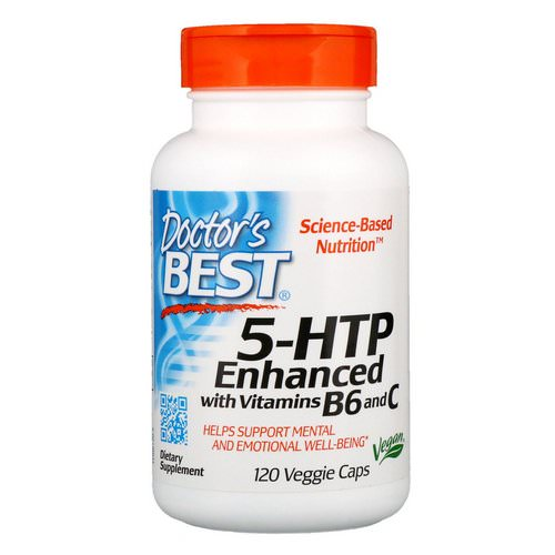 Doctor's Best, 5-HTP, Enhanced with Vitamins B6 & C, 120 Veggie Caps فوائد