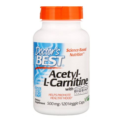 Doctor's Best, Acetyl-L-Carnitine, 500 mg, 120 Veggie Caps فوائد