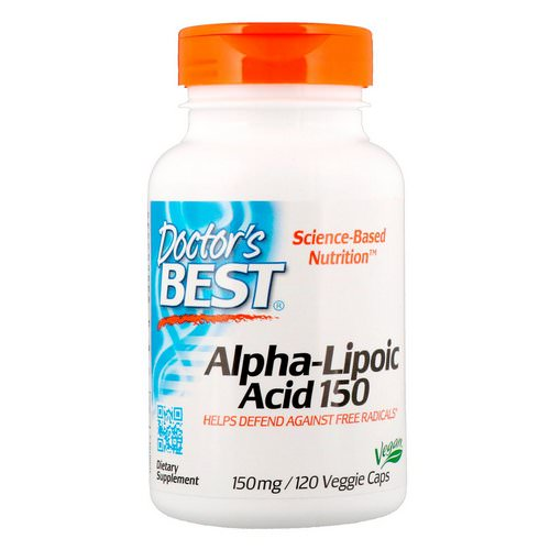 Doctor's Best, Alpha-Lipoic Acid, 150 mg, 120 Veggie Capsules فوائد