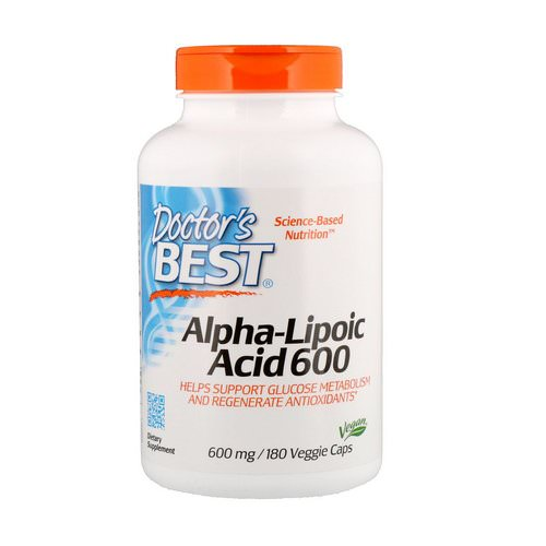 Doctor's Best, Alpha-Lipoic Acid, 600 mg, 180 Veggie Caps فوائد