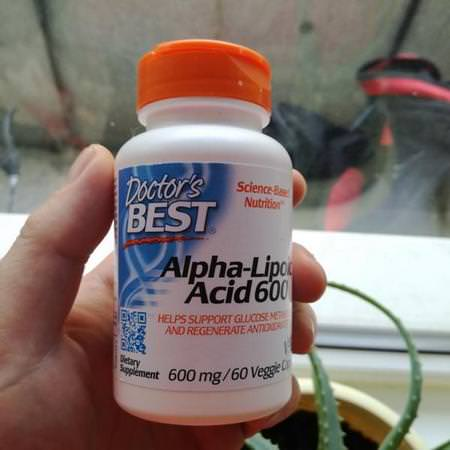 Doctor's Best, Alpha-Lipoic Acid, 600 mg, 60 Veggie Caps