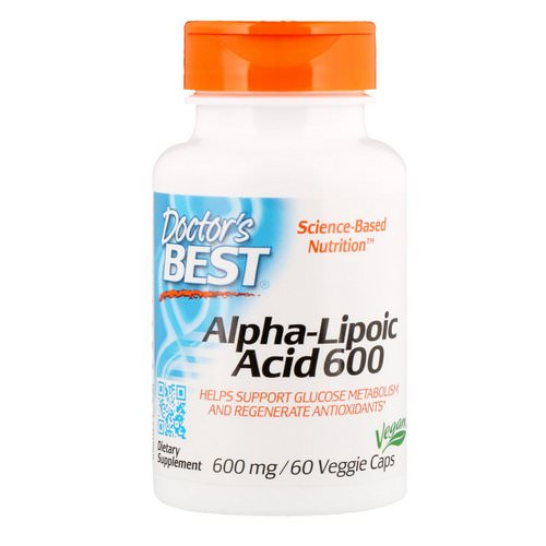 Doctor's Best, Alpha-Lipoic Acid, 600 mg, 60 Veggie Caps فوائد