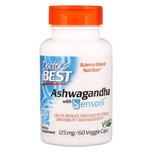 Doctor's Best, Ashwagandha with Sensoril, 125 mg, 60 Veggie Caps فوائد