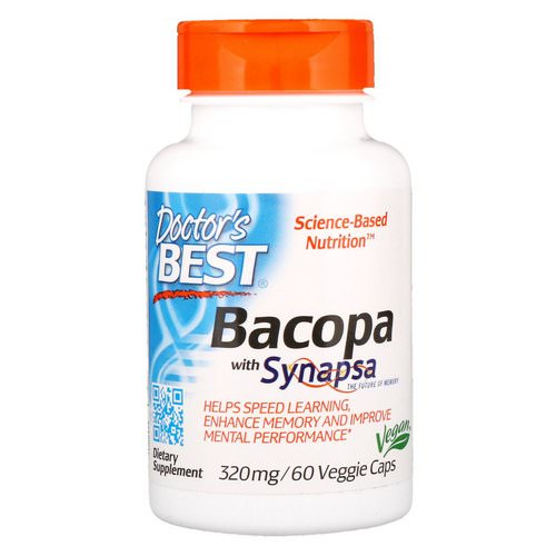 Doctor's Best, Bacopa With Synapsa, 320 mg, 60 Veggie Caps فوائد