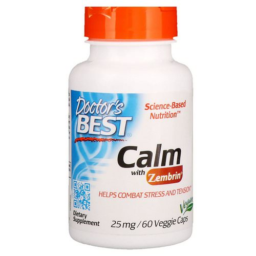 Doctor's Best, Calm with Zembrin, 25 mg, 60 Veggie Caps فوائد