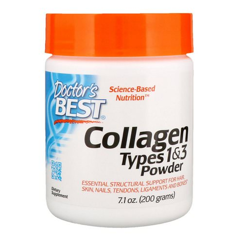 Doctor's Best, Collagen, Types 1 & 3 Powder, 7.1 oz (200 g) فوائد