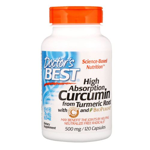 Doctor's Best, Curcumin, High Absorption, 500 mg, 120 Capsules فوائد
