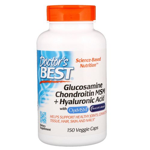Doctor's Best, Glucosamine Chondroitin MSM + Hyaluronic Acid, 150 Veggie Caps فوائد