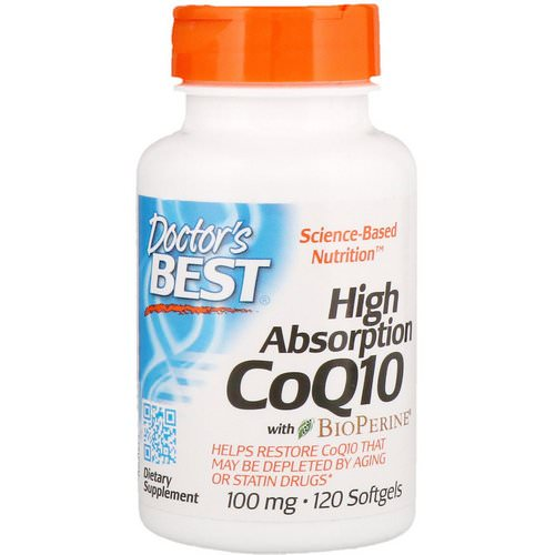 Doctor's Best, High Absorption CoQ10 with BioPerine, 100 mg, 120 Softgels فوائد