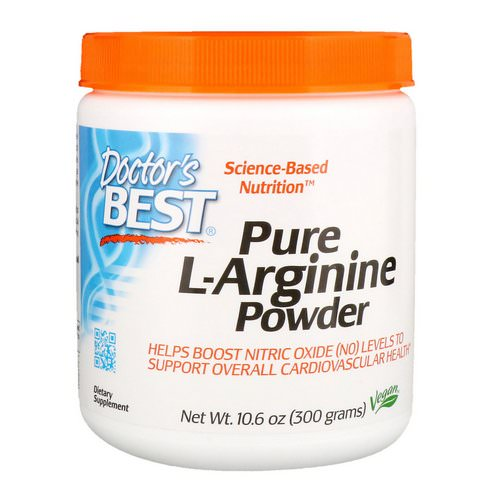 Doctor's Best, Pure L-Arginine Powder, 10.6 oz (300 g) فوائد