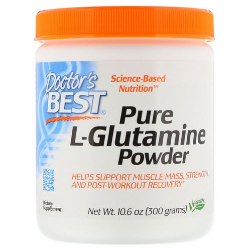 Doctor's Best, Pure L-Glutamine Powder, 10.6 oz (300 g) فوائد