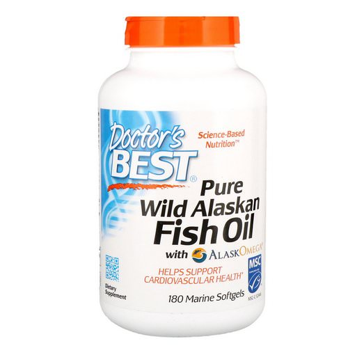 Doctor's Best, Pure Wild Alaskan Fish Oil with AlaskOmega, 180 Marine Softgels فوائد