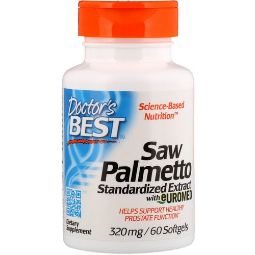 Doctor's Best, Saw Palmetto, Standardized Extract with Euromed, 320 mg, 60 Softgels فوائد