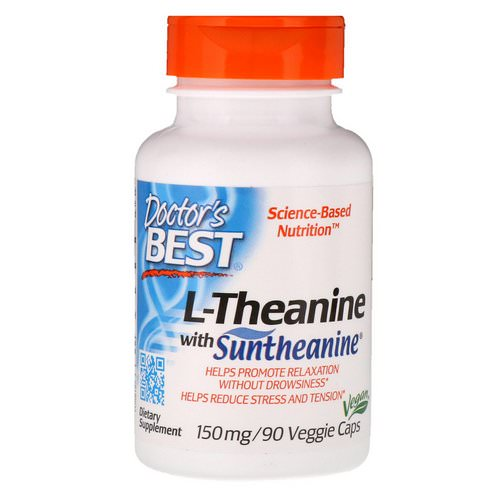 Doctor's Best, Suntheanine L-Theanine, 150 mg, 90 Veggie Caps فوائد