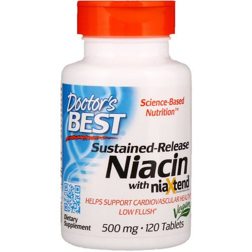 Doctor's Best, Sustained-Release Niacin with niaXtend, 500 mg, 120 Tablets فوائد