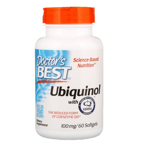 Doctor's Best, Ubiquinol with Kaneka, 100 mg, 60 Softgels فوائد