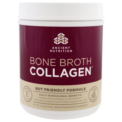 Dr. Axe / Ancient Nutrition, Bone Broth Collagen, Pure, 15.9 oz (450 g) فوائد