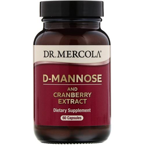 Dr. Mercola, D-Mannose and Cranberry Extract, 60 Capsules فوائد