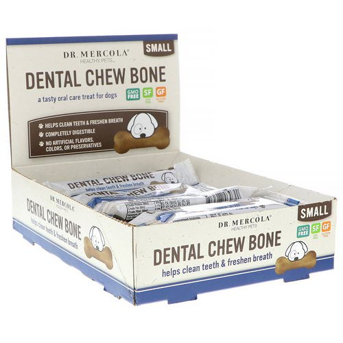 Dr. Mercola, Dental Chew Bone, Small, For Dogs, 12 Bones, 0.77 oz (22 g) Each فوائد