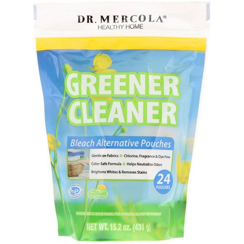 Dr. Mercola, Greener Cleaner, Bleach Alternative Pouches, 24 Pouches فوائد
