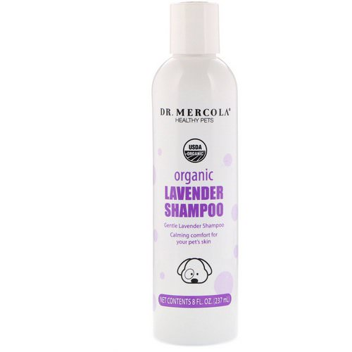 Dr. Mercola, Healthy Pets, Organic Lavender Shampoo, for Dogs, 8 fl oz (237 ml) فوائد