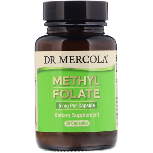 Dr. Mercola, Methyl Folate, 5 mg, 30 Capsules فوائد