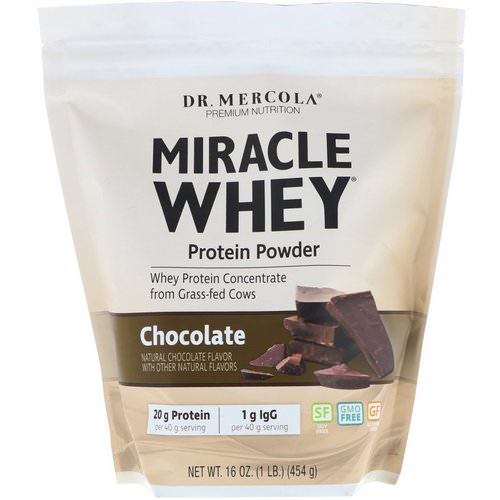 Dr. Mercola, Miracle Whey, Protein Powder, Chocolate, 1 lb (454 g) فوائد