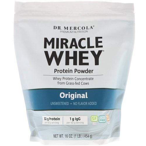 Dr. Mercola, Miracle Whey Protein Powder, Original, 16 oz (454 g) فوائد