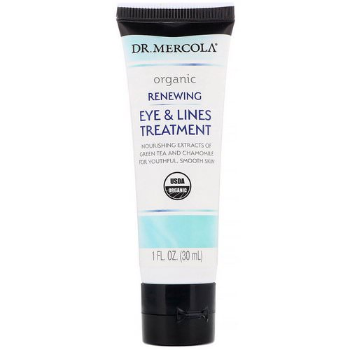 Dr. Mercola, Organic Renewing Eye & Lines Treatment, 1 fl oz (30 ml) فوائد