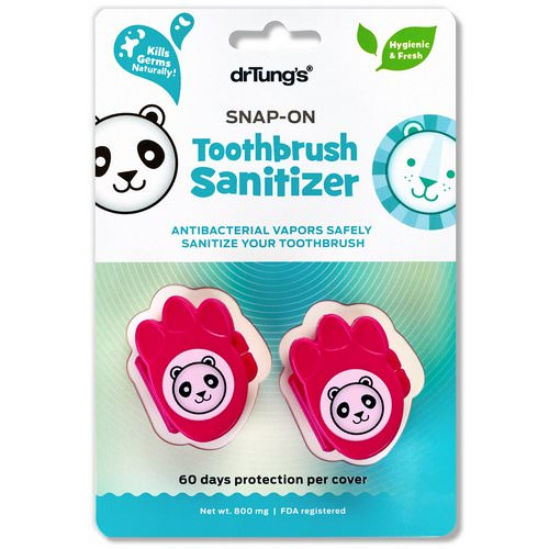 Dr. Tung's, Kid's Snap-On Toothbrush Sanitizer, 2 Toothbrush Sanitizers فوائد