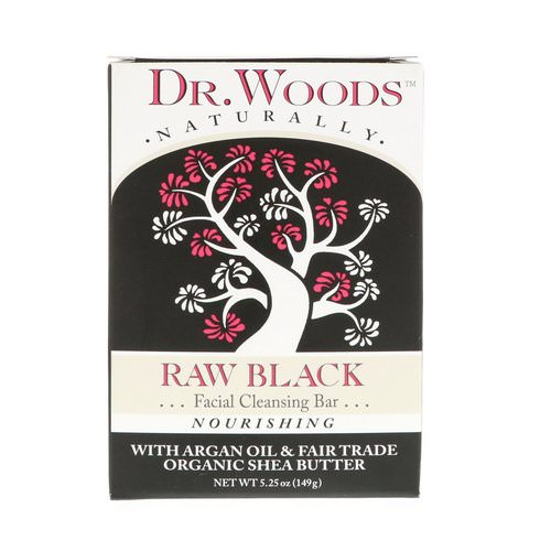 Dr. Woods, Raw Black Soap, Facial Cleansing Bar, 5.25 oz (149 g) فوائد