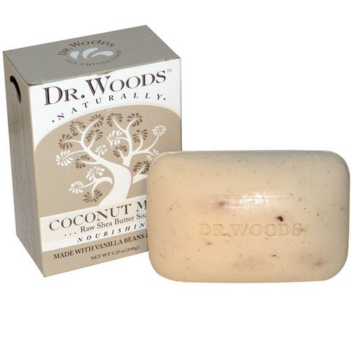 Dr. Woods, Raw Shea Butter Soap, Coconut Milk, 5.25 oz (149 g) فوائد