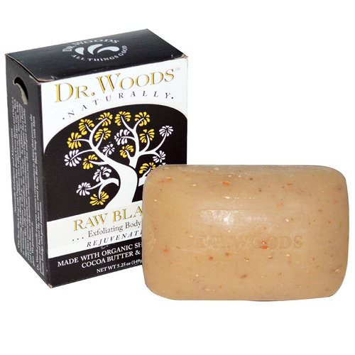 Dr. Woods, Shea Butter Soap, Raw Black, 5.25 oz (149 g) فوائد