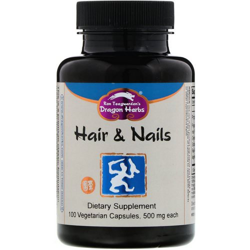 Dragon Herbs, Hair & Nails, 500 mg, 100 Vegetarian Capsules فوائد