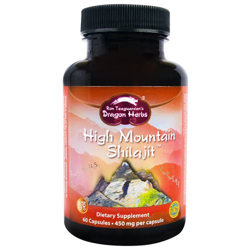 Dragon Herbs, High Mountain Shilajit, 450 mg, 60 Capsules فوائد