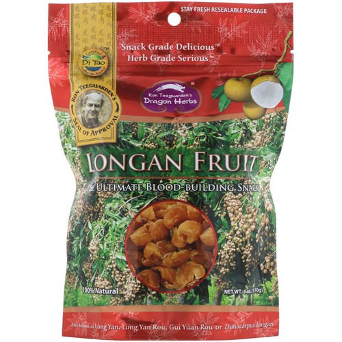 Dragon Herbs, Longan Fruit, 6 oz (170 g) فوائد