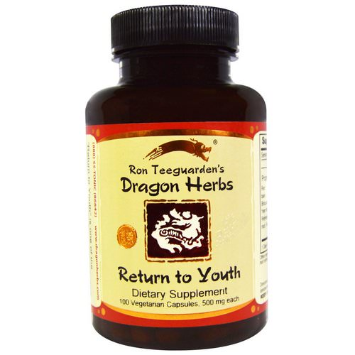 Dragon Herbs, Return to Youth, 500 mg, 100 Veggie Caps فوائد