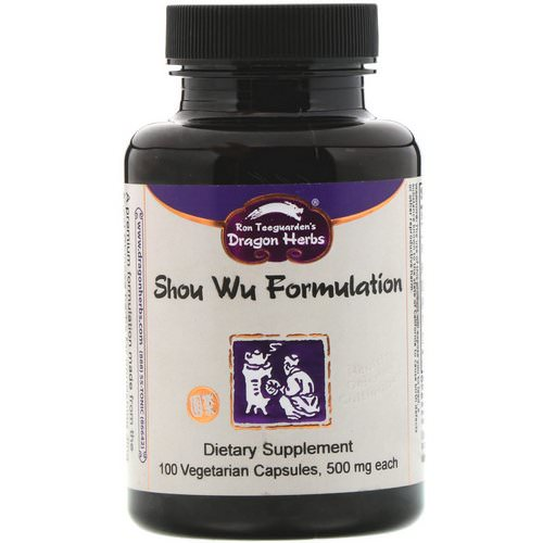 Dragon Herbs, Shou Wu Formulation, 500 mg, 100 Vegetarian Capsules فوائد