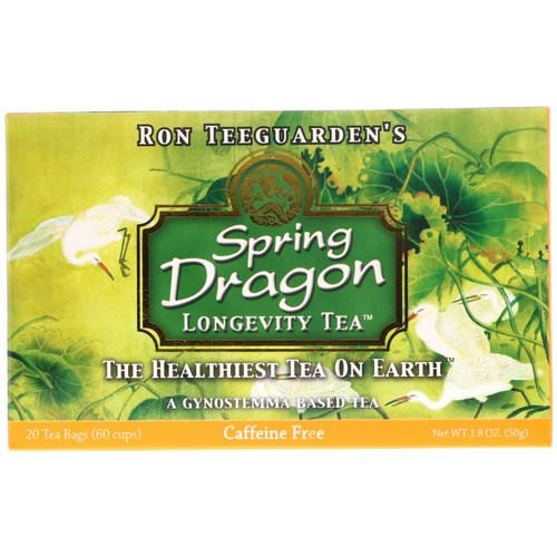 Dragon Herbs, Spring Dragon Longevity Tea, Caffeine Free, 20 Tea Bags, 1.8 oz (50 g) فوائد