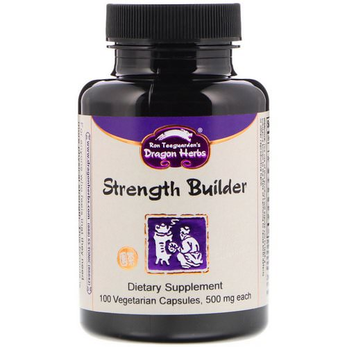 Dragon Herbs, Strength Builder, 500 mg, 100 Vegetarian Capsules فوائد