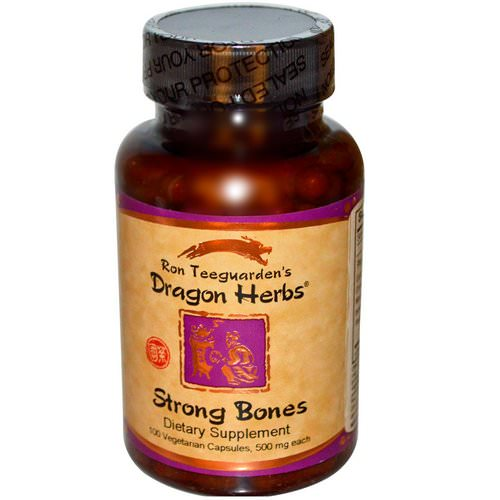 Dragon Herbs, Strong Bones, 500 mg, 100 Veggie Caps فوائد