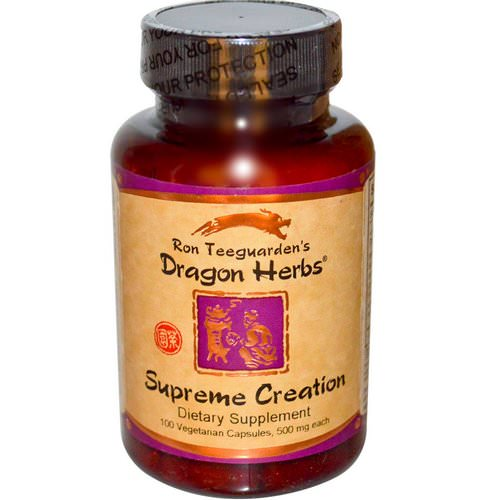 Dragon Herbs, Supreme Creation, 500 mg, 100 Veggie Caps فوائد