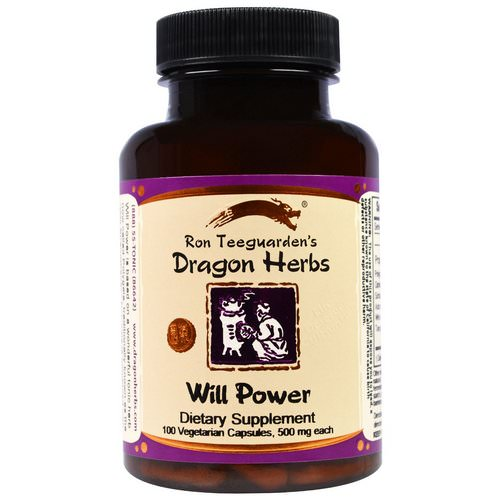 Dragon Herbs, Will Power, 500 mg, 100 Veggie Caps فوائد