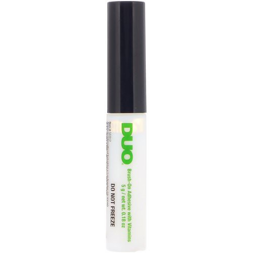 DUO, Brush On Striplash Adhesive, White/Clear, 0.18 oz (5 g) فوائد