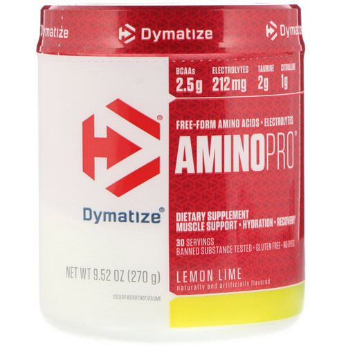 Dymatize Nutrition, AminoPro, Lemon Lime, 9.52 oz (270 g) فوائد