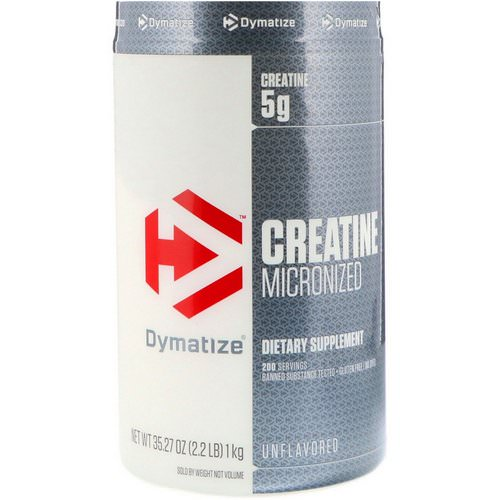 Dymatize Nutrition, Creatine Micronized, Unflavored, 2.2 lb (1 kg) فوائد