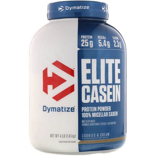 Dymatize Nutrition, Elite Casein, Cookies & Cream, 4 lbs (1.8 kg) فوائد